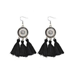 Tassel Earrings Black